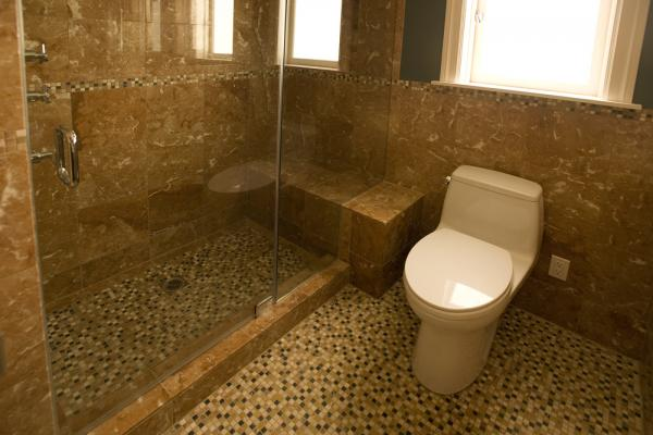 Built in Shower and seat.