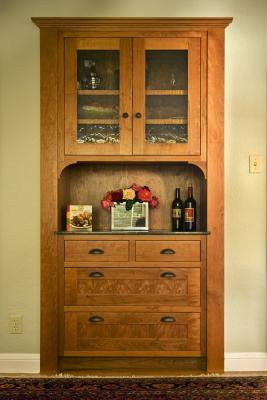 Built in Dining room Hutch.