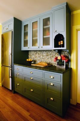 Custom Dish Cabinet.